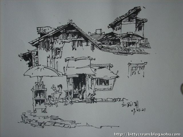 牛人超强钢笔画 24小时38幅手绘图