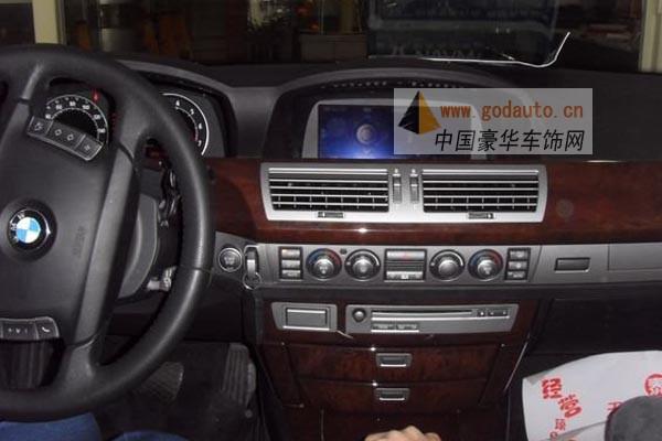 宝马740导航/宝马740加装导航/宝马740原车屏幕升级