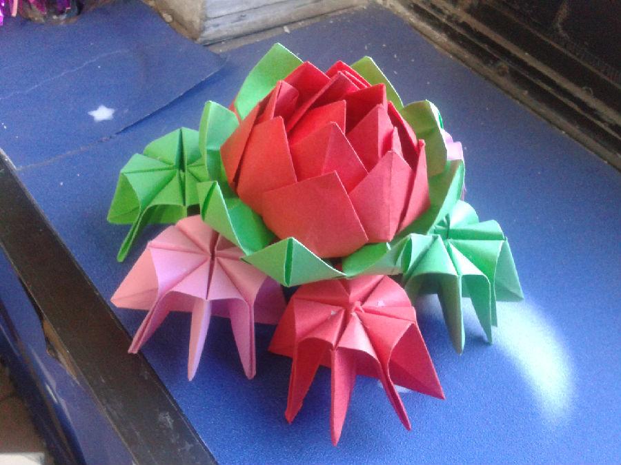 手工制作大全 折纸 玫瑰花 3d立体 唯一折法折纸视频