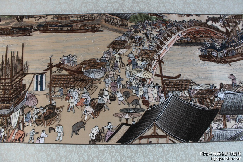 实际上在荆州民间一直都有传说中的 楚绣传人,比如说荆州市群