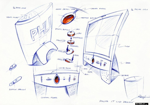 产品手绘最主要的就是形体的描绘与上色两个过程,尤其是第二步,马克笔与彩铅的上色,必须知道光影关系,笔触也很重要! Karl Liu 好像在描图纸上画!但.....有很多疑问,但没有人能给我答案!????????但看着他不是在描图纸上作的画啊,但又为什么上色时,把马克笔色上在了描图纸的后面呢,确实描在后面,色彩会变得很均匀,但.....他难道是画好后,为了让大家看清楚而垫上了A3或者A4纸????? 但看着他不是在描图纸上作的画啊,但又为什么上色时,把马克笔色上在了描图纸的后面呢,确实描在后面,色彩会变得