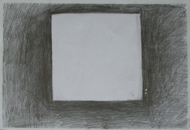 四幅素描 三角形 正方形 正方体 圆锥体
