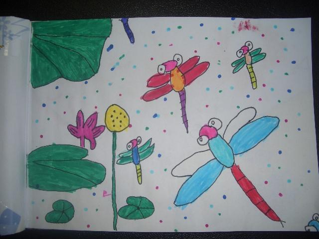这是小老虎本学期美术课上的第一幅画