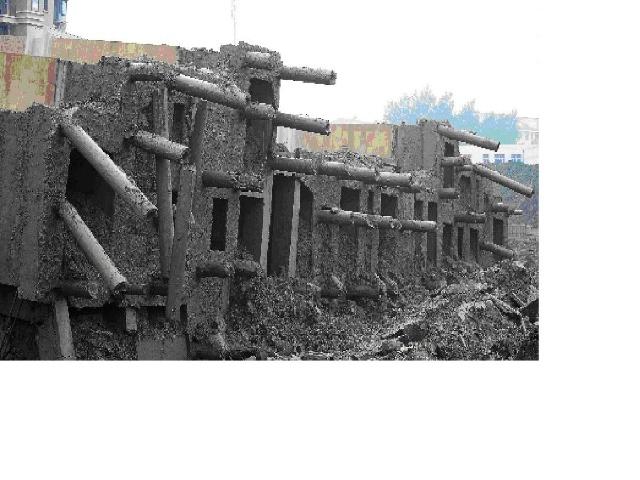 上海高层住宅倒塌过程与原因分析 纵横四 高清图片