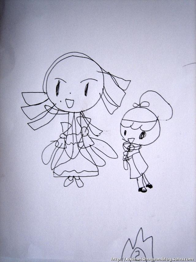 简单小公主铅笔画可爱漂亮