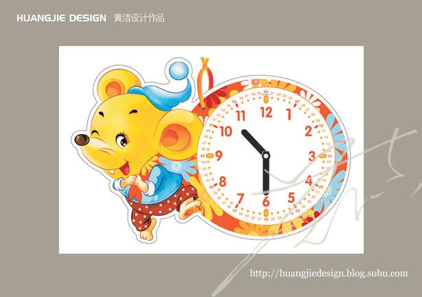 挂卡正面上的卡通动物形象选用幼儿熟悉的小猪,小松鼠,小老鼠,小浣熊