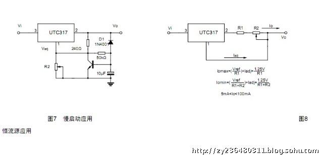 yw-utc317三端可调正电源电压调节器是一单片双极型线性集成电路