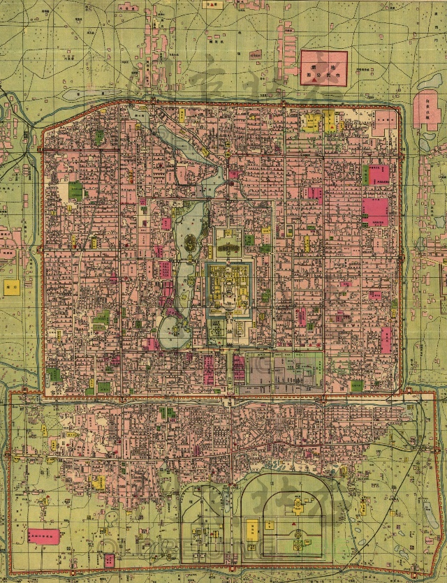 1921年老北京地图