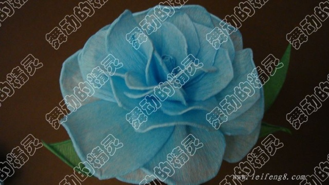 皱纹纸制作玫瑰花详细图解