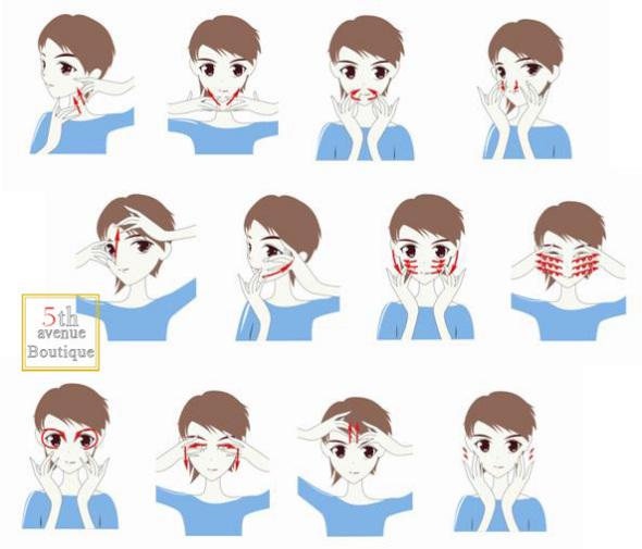 不同的按摩手法可以使脸部迅速缩小