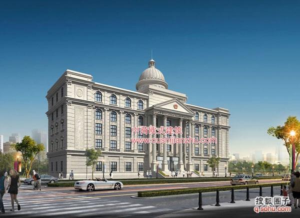 贵州政府机关办公楼(财政局)欧式风格装修