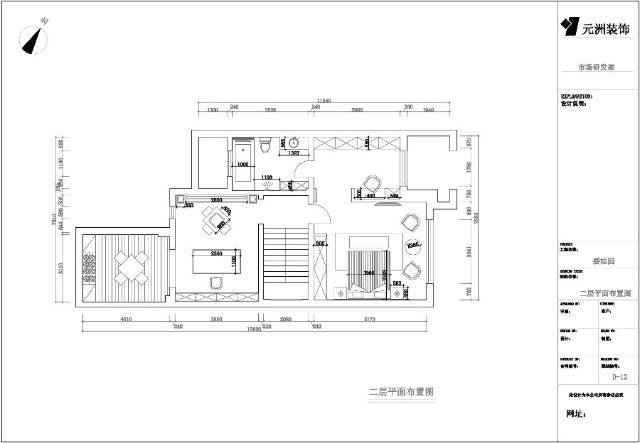 长方形100平米2楼套房设计图