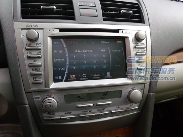 北京丰田凯美瑞六代加装dvd导航|飞歌黄金版导航专车