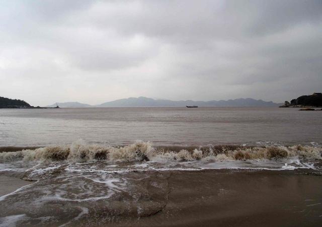 简约石板大海背景素材