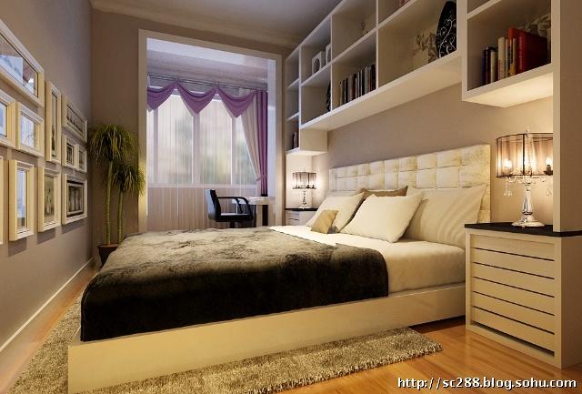 实创装饰96平三居室简约风格装修效果图--路劲世界城c户型