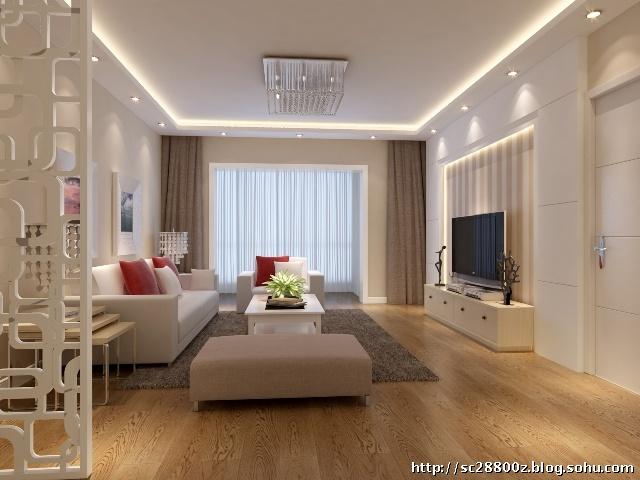 简易石膏电视墙造型