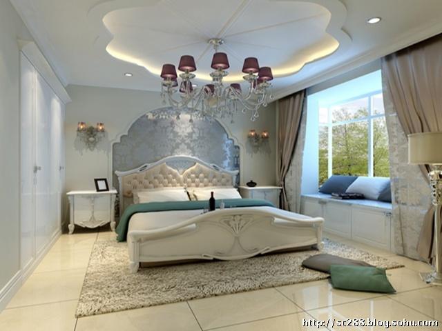 实创装饰三环新城现代欧式风格卧室设计效果图图片