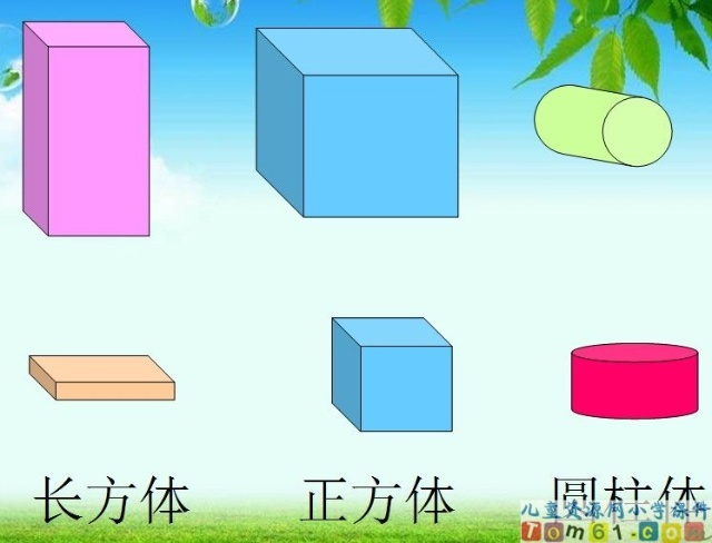 长方体,圆柱体,正方体